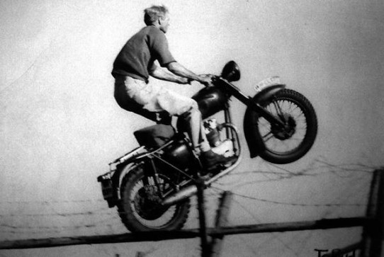 Could the real Hilts ride a bike like that?